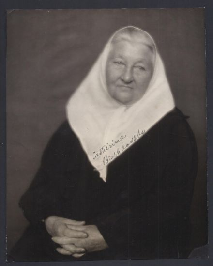Catherine Breshkovsky Signed Photo 1919 by Eugene Hutchinson Russian Revolution